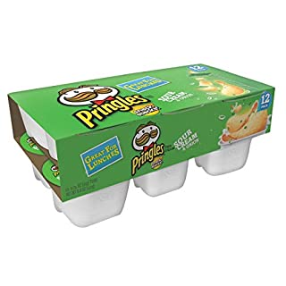 Pringles, Potato Crisps Chips, Sour Cream and Onion Flavored, Great for Lunches, Snack Stacks, 8.8oz Box (12 Count)