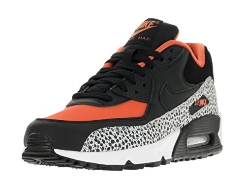 Nike Kids Air Max 90 Safari (GS) Summit White/Black Clay Orange Running Shoe 6 Kids US (Women Nike Air Max Orange)