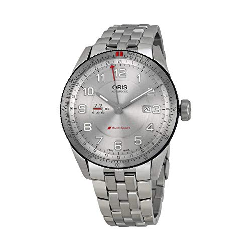 Gmt Automatic Gents Watch - Oris Men's 'Audi' Swiss Stainless Steel Automatic Watch, Color:Silver-Toned (Model: 74777014461MB)