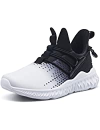 L-RUN Girls Boys Fashion Sneakers Kids Outdoor Lightweight Breathable Athletic Running Walking Shoes