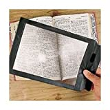Magnipros® Big A4 Size Full Page Magnifying Sheet(2x) Comes with Credit Card Size Magnifier