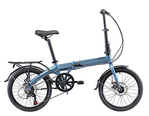 Cheapest Prices! KESPOR K7 Folding Bike for Adults, Women, Men, Rear Carry Rack, Front and Rear Fend...