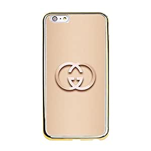 Custom Luxury Gucci Logo Mobile Case(Gold Plastic) Contracted Classic Iphone 6 Plus/6s Plus (5.5 Inch) Shell Case