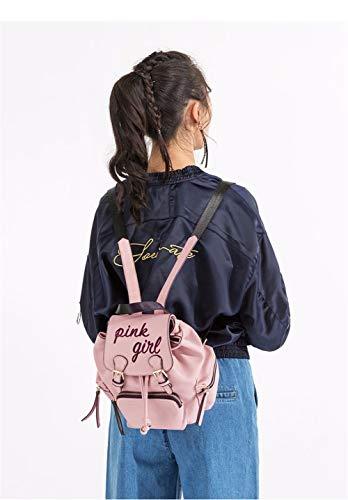College Con Antivento In Moda Borse Rosa Pelle A Zainetto Casual JIUSHIGUANG Da Donna Fibbia AUF0vqqwR