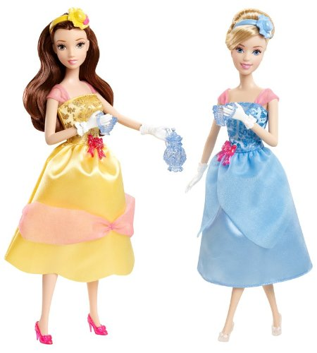 Disney Princess Tea Time Belle and Cinderella Doll Giftset
