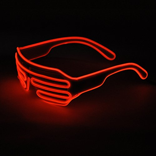 Generic El Wire LED Light up Rave Glasses for Party Concert
