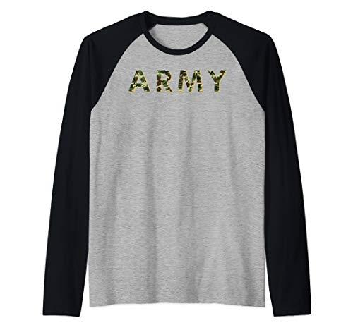 Army ACU OCP Military Digital Camo Workout Raglan Baseball Tee