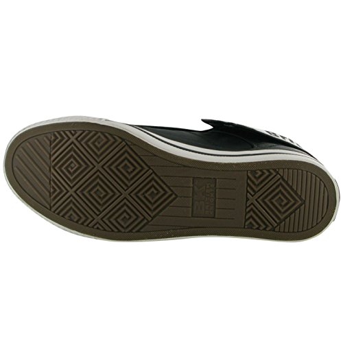 Sneakers Trainer Casual Fold Knights Schwarz Weiß Herren British ROCO Schuhe qOt8xwBa7