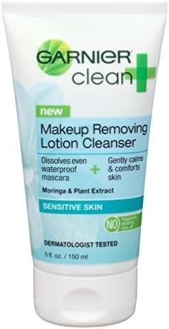 Garnier Clean+ Makeup Removing Sensitive Skin Lotion Cleanser 5 oz (Pack of 2)