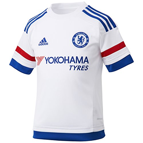 7f79a98534de3 Amazon.com   adidas Chelsea FC 15 16 SS Away Jersey - Youth -  White Blue Red -   Sports   Outdoors