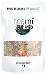 An invigorating herbal infusion of mint tea, rose buds and dried fruit, our Teami Refresh is the perfect balance between mint & sweetness. Mint based tea blends are cooling and warming all at once, which helps reinvigorate the senses. The...