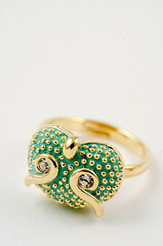 Karmas Canvas Owl Ring (Green) (Coin Ring Roberto Green)