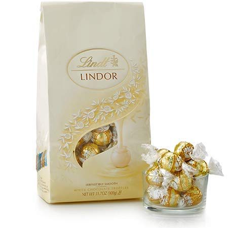 White Chocolate LINDOR Truffles 75-pc Bag by Lindt