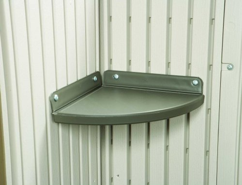 Cheap 2 Corner Shelf Storage Shed Accessory Kit