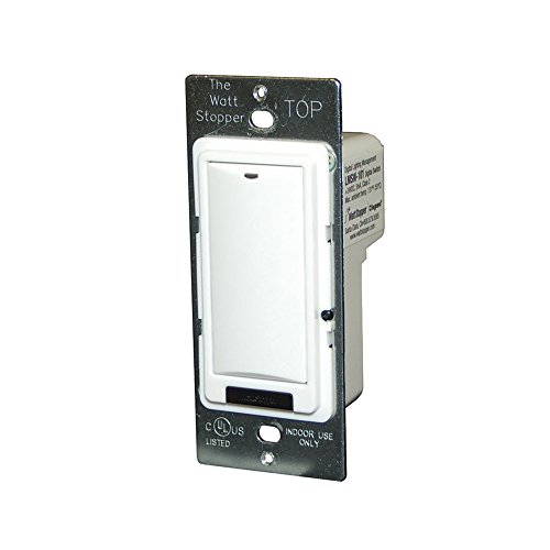 Wattstopper LVSW-101-W 1 Button Low Voltage Wall Switch 24 Volt DC White