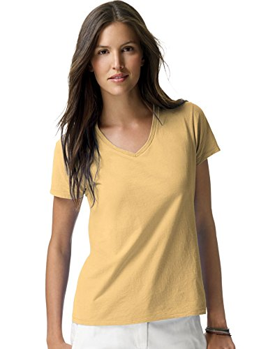 (Hanes Nano-T Women`s V-Neck T-Shirt )