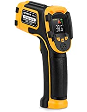 Infrared Thermometer (Not for Human) Non-Contact Digital Laser Temperature Gun Pyrometer with LCD Color Display -58℉~1112℉(-50℃~600℃) Adjustable Emissivity for Cooking/BBQ/Freezer/Industry/Repair