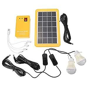 symboat 3 W Solar Power Panel Generator Con 2 lámparas LED ...