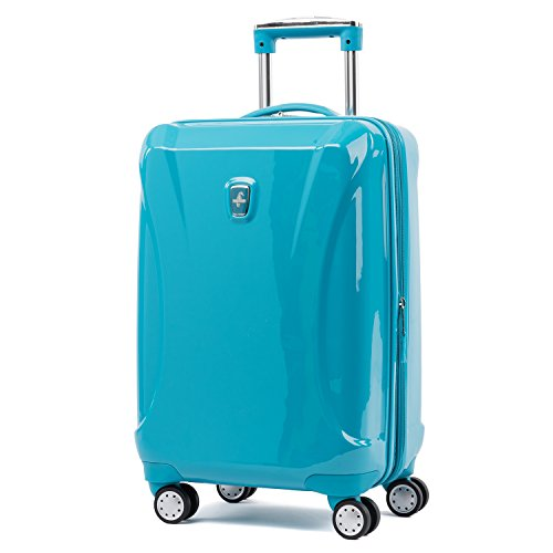Atlantic Ultra Lite Hardsides Carry-on Spinner, Turquoise Blue