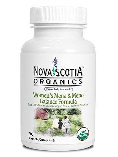 Nova Scotia Organics Mena   Meno Balance Formula   Usda Certified Organic Menopause Supplement Or Pms Supplement  30 Caplets