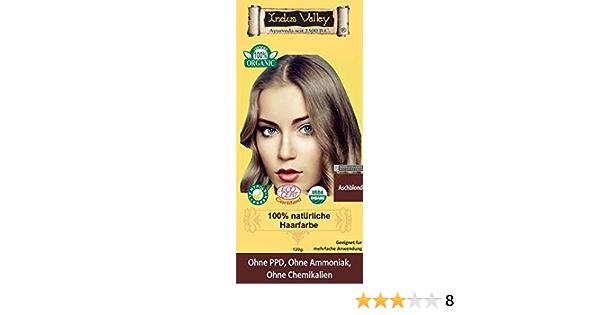 IndoNatura Indus Valley - Tinte para el cabello 100% natural, rubio ceniza
