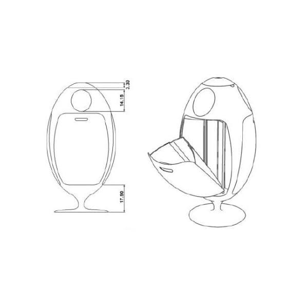 Pattumiera-design-Ovetto-3-scomparti-differenziati-in-plastica-ABS-reciclata-bianco-opaco