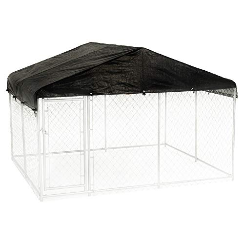 Lucky Dog 10 x 10 Foot Outdoor Chain Link Dog Kennel for sale  Delivered anywhere in USA