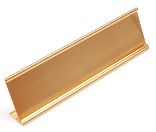 NamePlate Holders, Desk, 2x10 - Pack of 100 - Wholesale Lot (Gold)