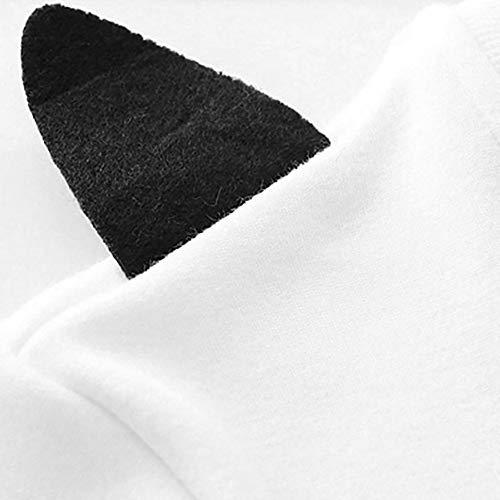 Mignon Tops Blanc Longues Dessinée Femmes Manches À Rond Pull Ventes Hiver Col 3d Chat Bande Shobdw Brodé Blouse Liquidation Automne Sweat xUvqz