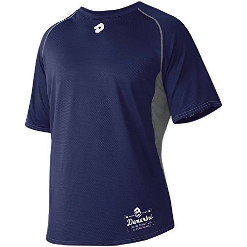 DeMarini Men's Game Day Short Sleeve Shirt, Navy, ()