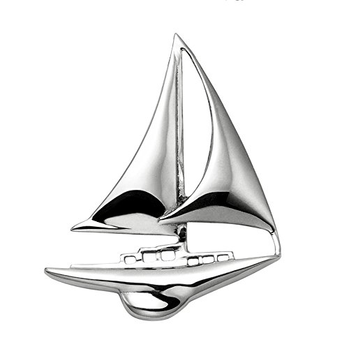 Wild Things Stainless Steel Sloop Sailboat Pendant w/Hidden Bail