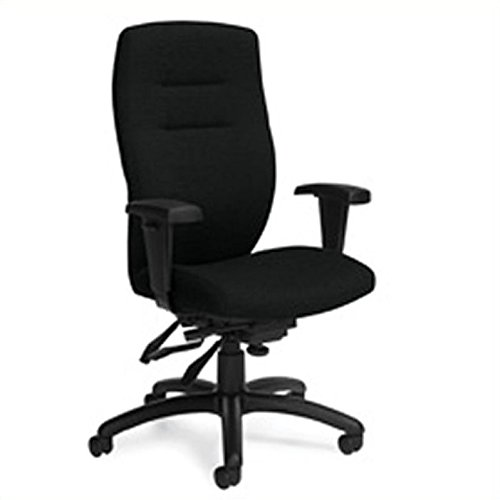 Global Synopsis High Back Multi Tilter Office Chair in Black Coal ()