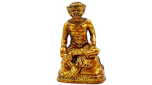 Phra pirap giant god of wisdom mini brass sculptures statue thai traditional with amulet (Thailand Traditional Costume Name)