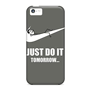 For Iphone 5c Premium Tpu Case Cover Just Do It Tomorrow Meme Protective Case