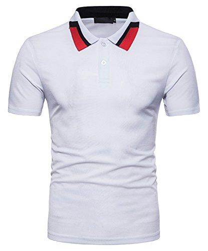 (ピゾフ)Pizoff メンズ ポロシャツ 半袖 カジュアル シンプル 無地 スキニー ファッション おしゃれ スポーツ ウェア ゴルフウェア 男女兼用 ポロシャツ