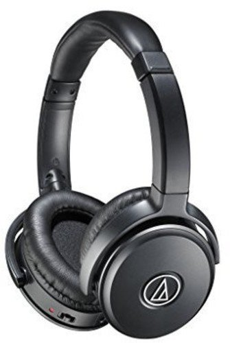 Audio-Technica Quiet Point ATH-ANC50IS Active Noise-Cancelling Headphones (Black) On-Ear Headphones at amazon