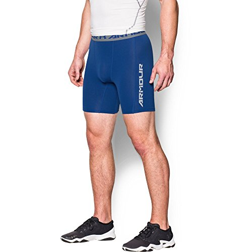 Under Armour Men's CoolSwitch Compression Shorts, Royal/Reflective, XX-Large