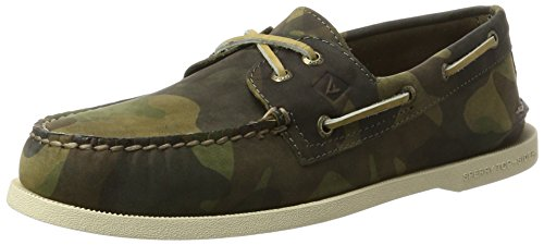 para Green Hombre Moss a Verde Sperry O 2 Náuticos 50 Eye Leather axZxwqYvU