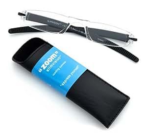 ICU Eyewear Zoom SlimVision +1.50 Magnification Reading Glasses (08632 Black)