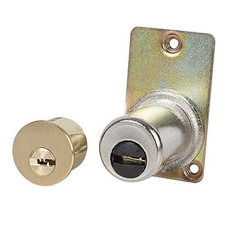 Tesa Assa Abloy 3010125 Tesa Seguridad T6ts 40 Leva Corta. Cilindro Redondo, Latonado: Amazon.es: Bricolaje y herramientas