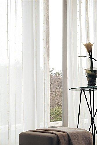 東リ ほのかな色のスクエアを組み合わせたストライプ カーテン1.5倍ヒダ KSA60471 幅:300cm ×丈:270cm (2枚組)オーダーカーテン   B078C6RNPH