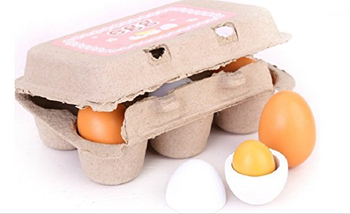 Hss 6pcs Wooden Easter Eggs Yolk Use As Ornaments or Easter