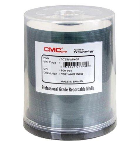 Taiyo Yuden 600 CMC Pro 52X CDR (CD-R) 80min 700MB White Inkjet Printable