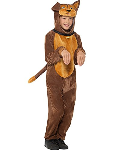Brown Dog Children's Costume with Hooded Jumpsuit and Collar, Medium -