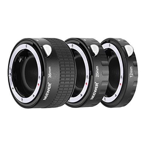 Neewer Metal Auto Focus AF Macro Extension Tube Set 12mm,20mm,36mm for Nikon AF,AF-S Lens DSLR Camera,Such as D7200 D7100 D7000 D5500 D5300 D5200 D5100 D5000 D3300 D3200 D3100 D3000 D700 D600 D500 Af Extension Tube Set