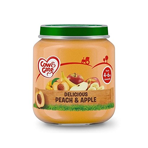 Cow & Gate Stage 1 Jar Delicious Peach & Apple 125g - Pack of 4