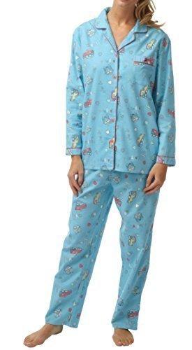 Get The Trend Camisa de dormir de las mujeres PIJAMA MUJER Sleeping Pantalones Algodón Pantalones Ropa