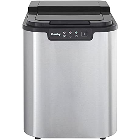 Danby DIM2500SSDB Portable Ice Maker Stainless Steel