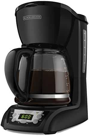 BLACK+DECKER 12-Cup Programmable Coffeemaker, Black, DLX1050B