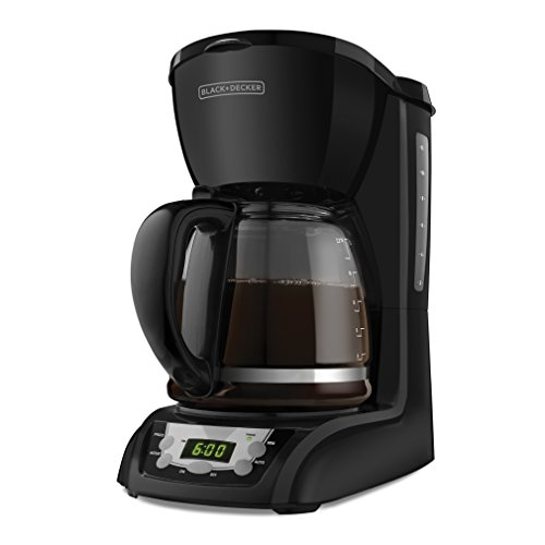 BLACK+DECKER 12-Cup Programmable Coffeemaker, Black, - Warehouse Camping Online